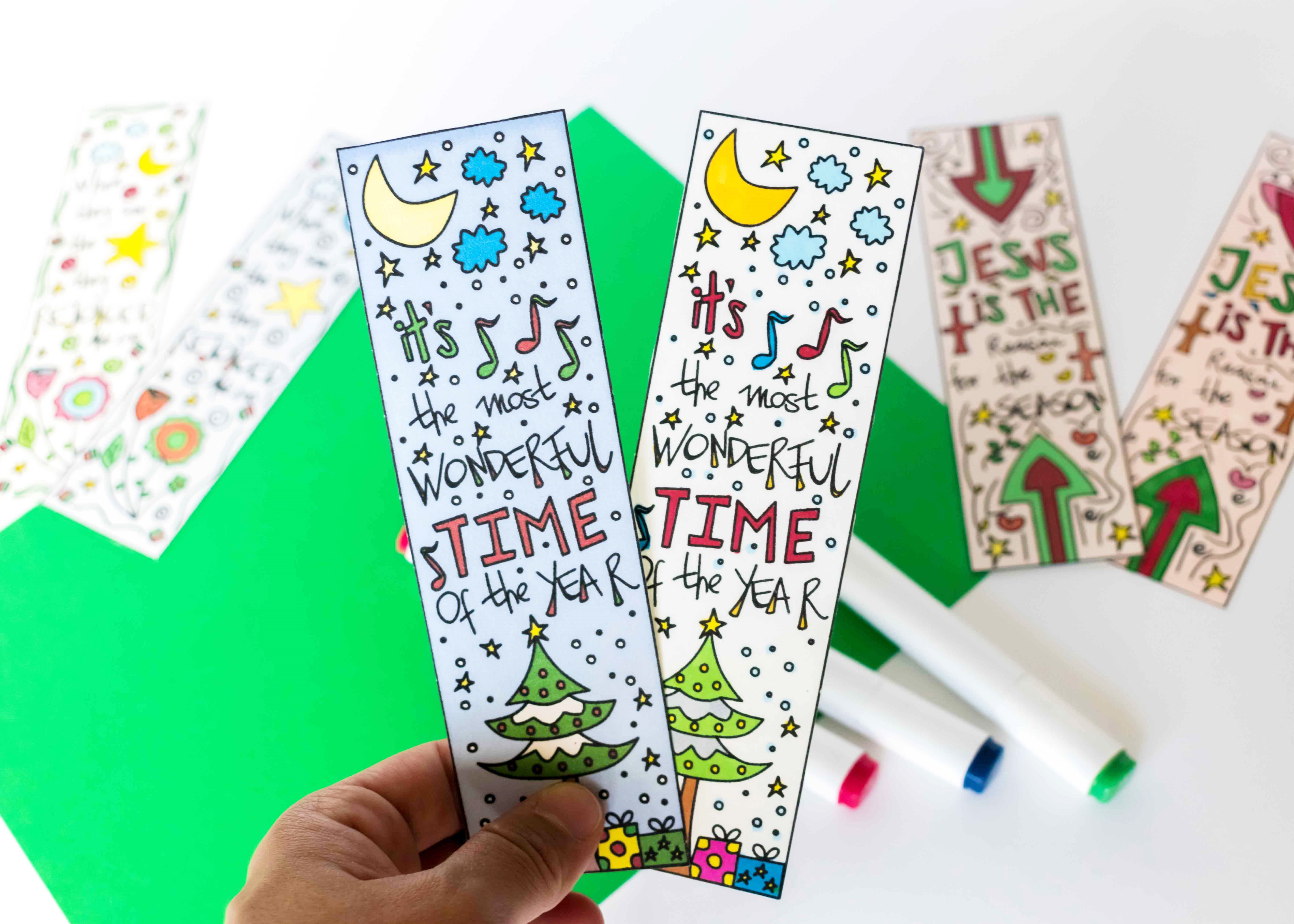 Coloring Christmas Bookmarks Free Printable ~ Daydream Into Reality