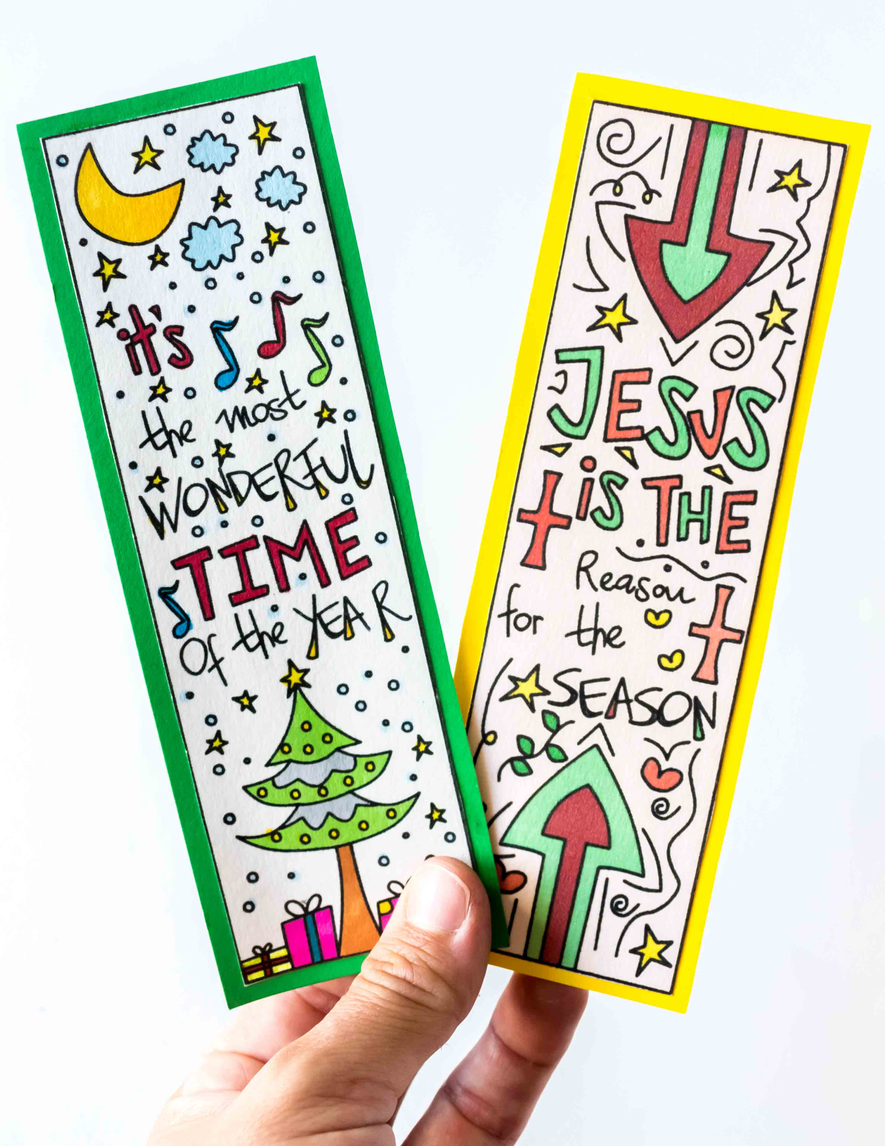 these hand drawn coloring christmas bookmarks are so beautifully designed use them to mark your
