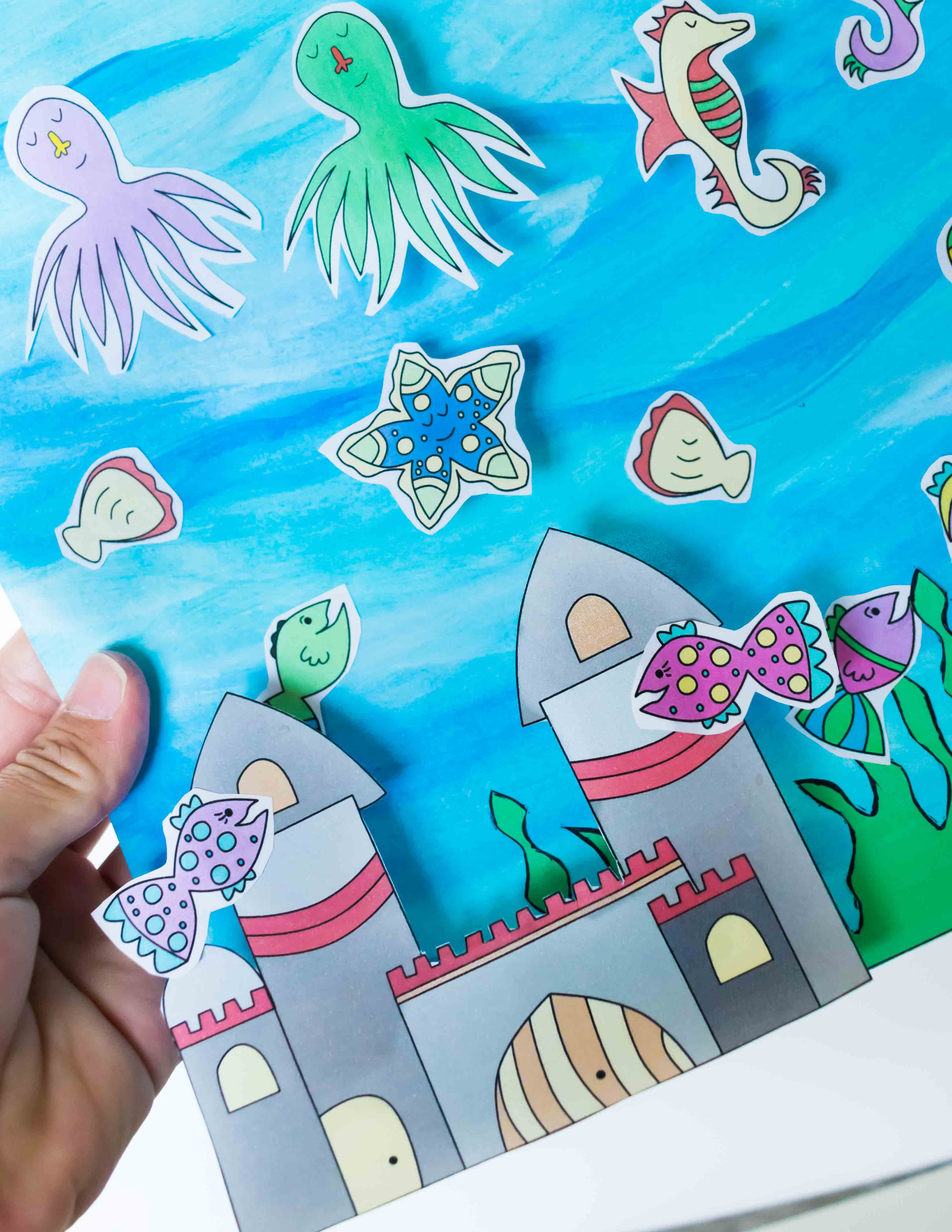 easy and cute fish tank craft for kids free printable daydream
