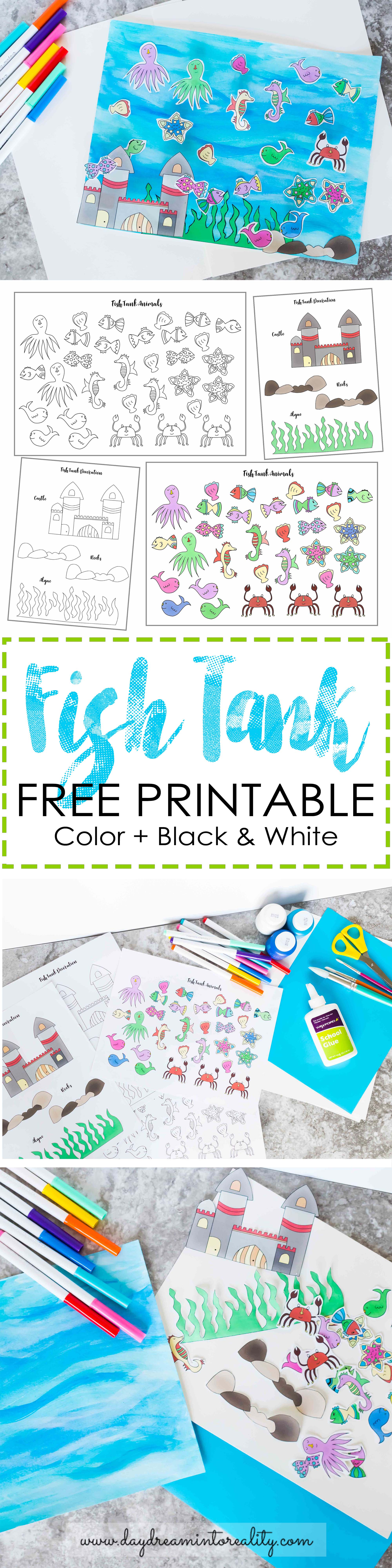 Easy and Cute Fish Tank Craft for Kids Free Printable ...