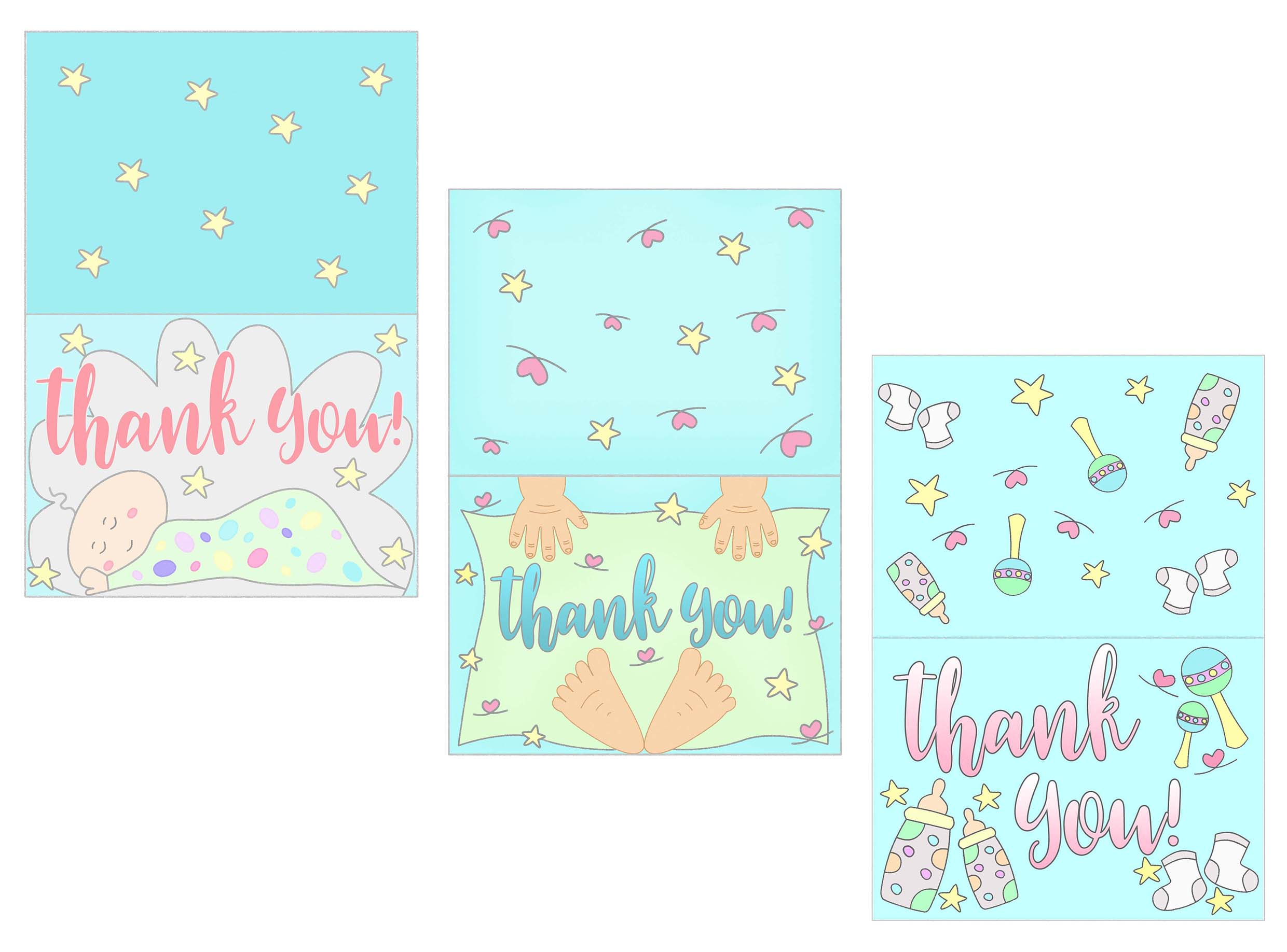 graphic relating to Free Printable Thank You referred to as Boy or girl Shower Thank On your own Playing cards Cost-free Printable