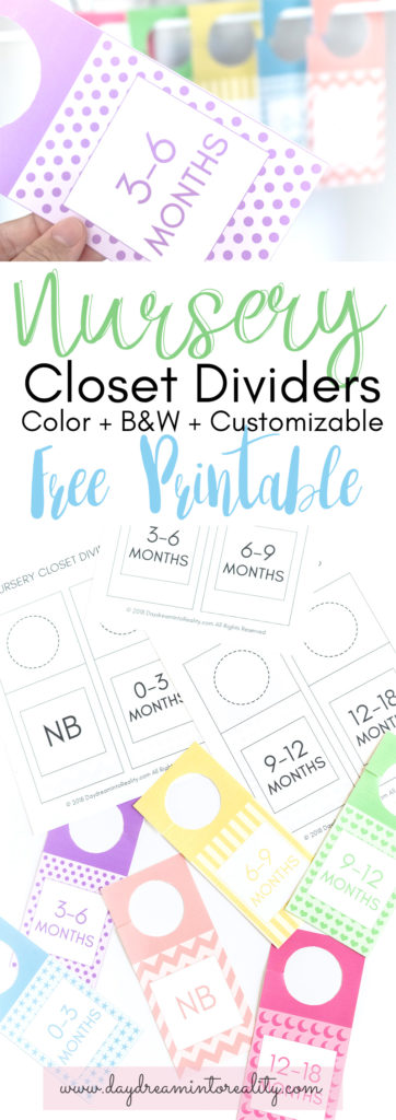 Pinnable image nursery closet dividers.