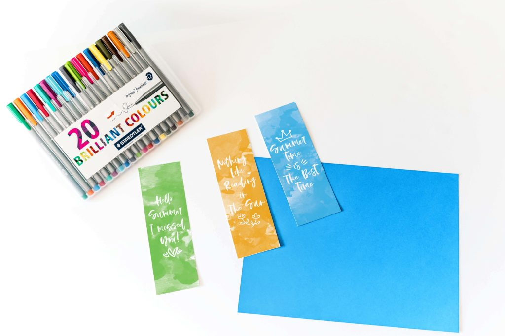 Get your books ready for summer with these adorable Free Watercolor Summer Bookmarks! After all, there's nothing better than reading a book under the sun!