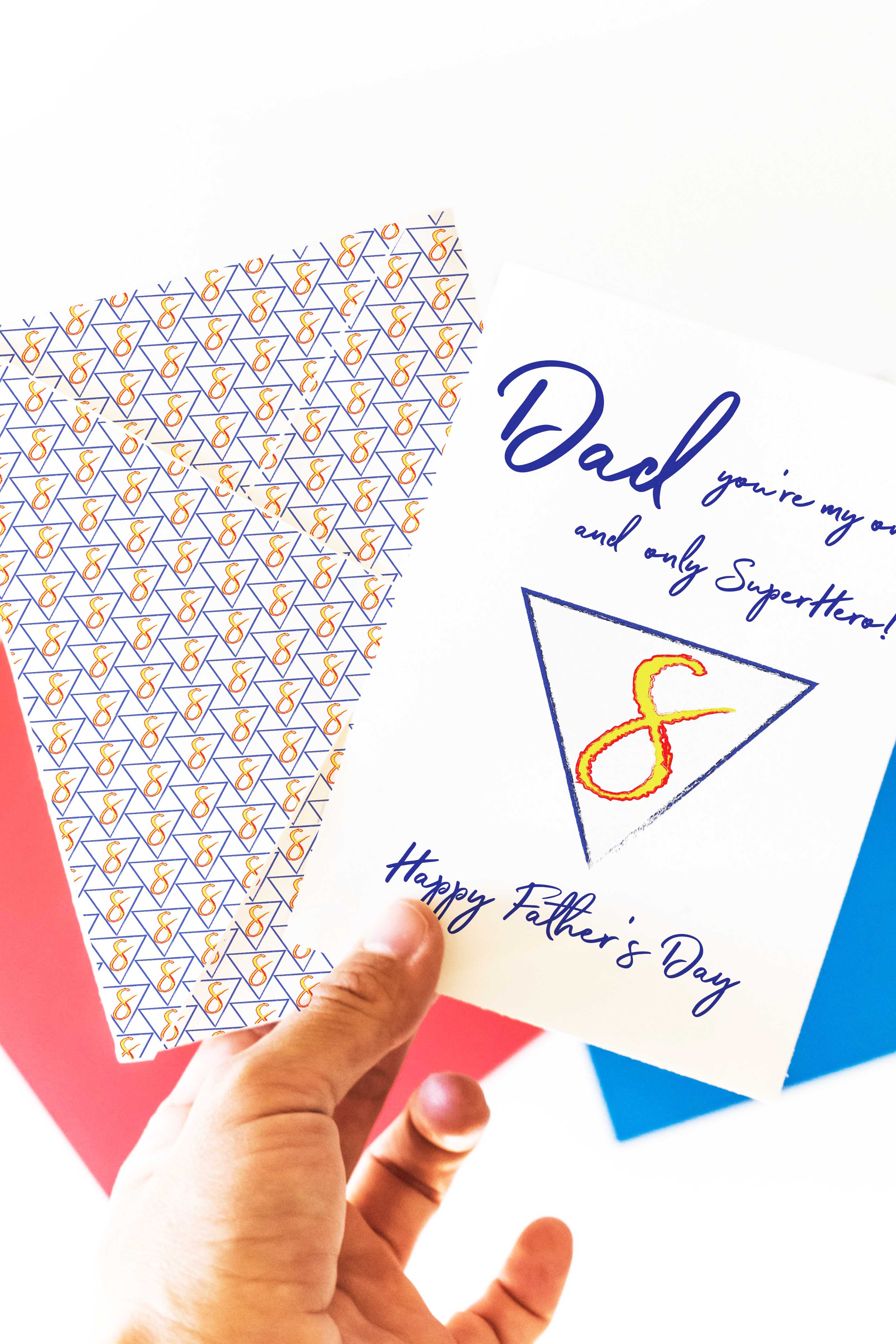 Father S Day Superhero Card Envelope