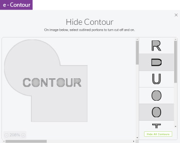 Contour Cricut Design Space Example