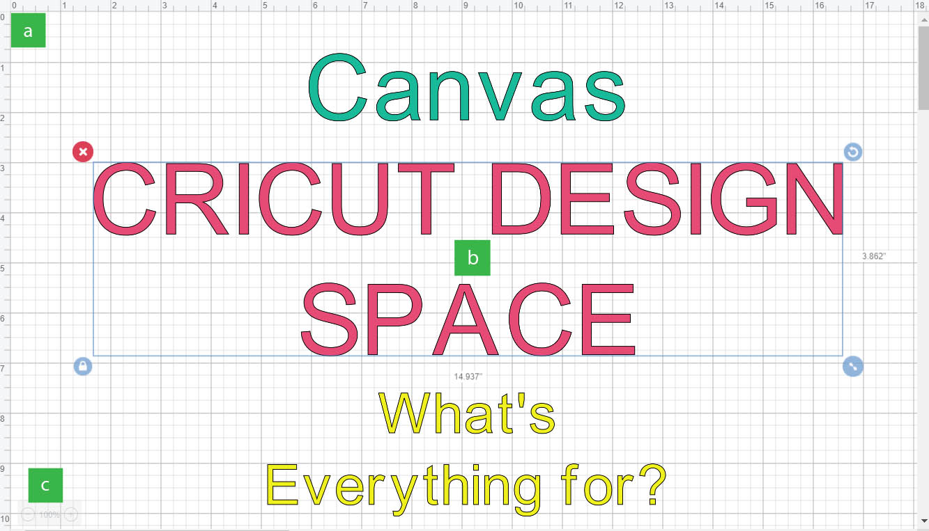 Cricut Design Space Canvas Area