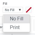 Screenshot of Fill option in Cricut Design Space