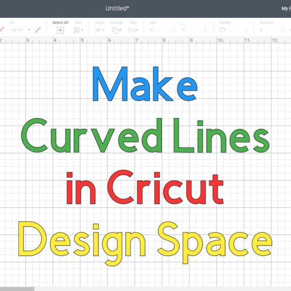 How to Make a Curved line in Cricut Design Space +Free SVG