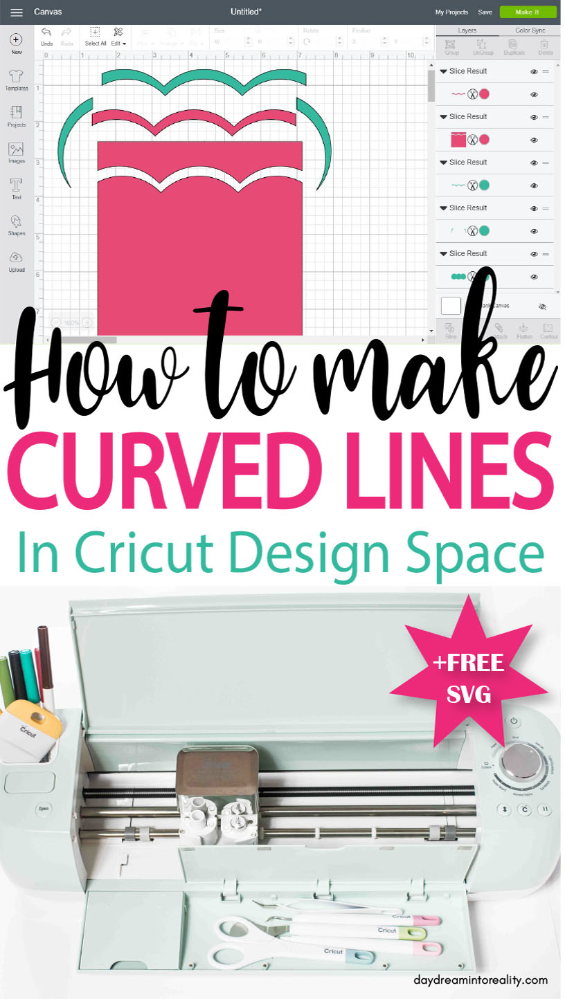 How To Make A Curved Line In Cricut Design Space Daydream Into Reality