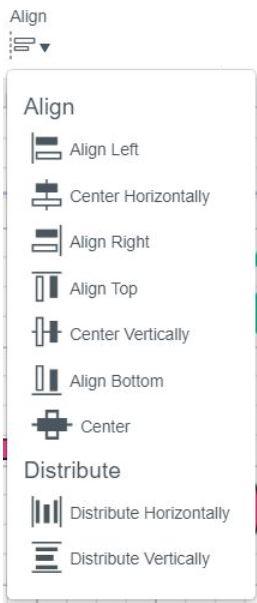 Alignment Drop Down Menu, cricut design space.