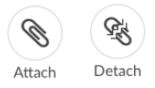 Attach and Detach Icons