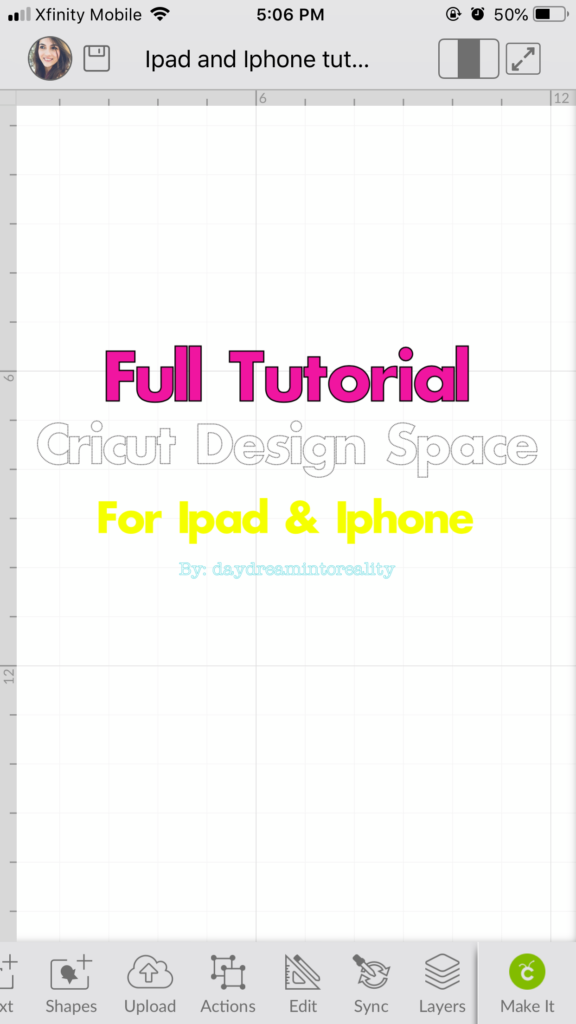 Iphone Screenshot Cricut Design Space App