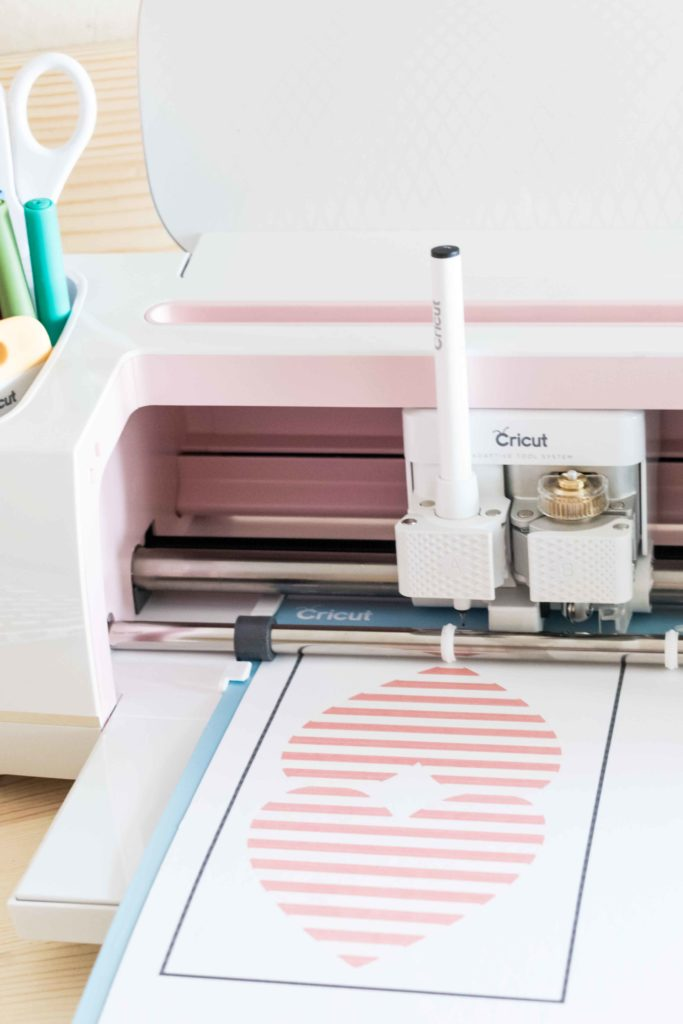 Print then Cut a Heart Shape Card with the Cricut Maker and Scoring wheel and Cricut Pens