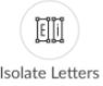 Isolate Letter