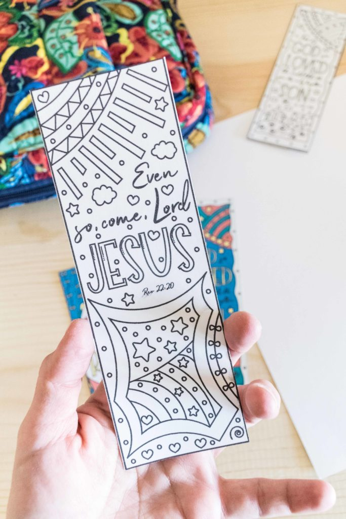 Even so, come, Lord Jesus Coloring Easter Bookmark