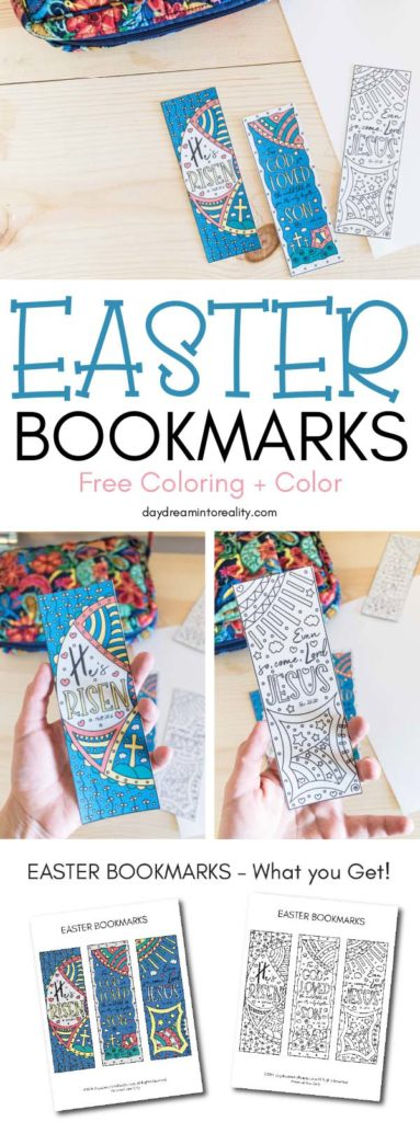 graphic relating to Who I Am in Christ Printable Bookmark called Cost-free Printable Coloring Easter Bookmarks (Far too within just colour)