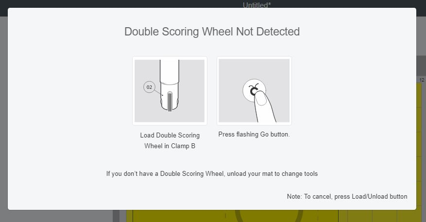 Scoring Wheel Not detected screenshot