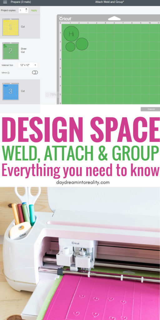 Today we are going to be covering some of the MOST IMPORTANT concepts in Cricut Design Space; Weld, Attach and Group.  Learning how to, and when to use any of these tools inside Cricut Design Space will take you from rookie to expert!