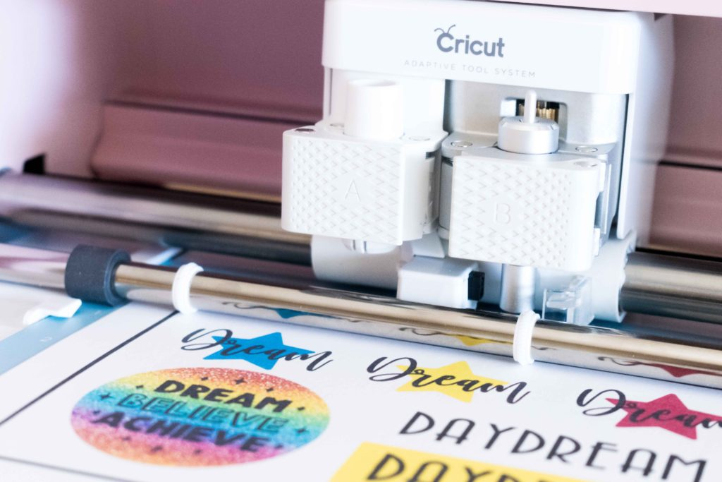 Cricut Maker Cutting a Print then Cut Design