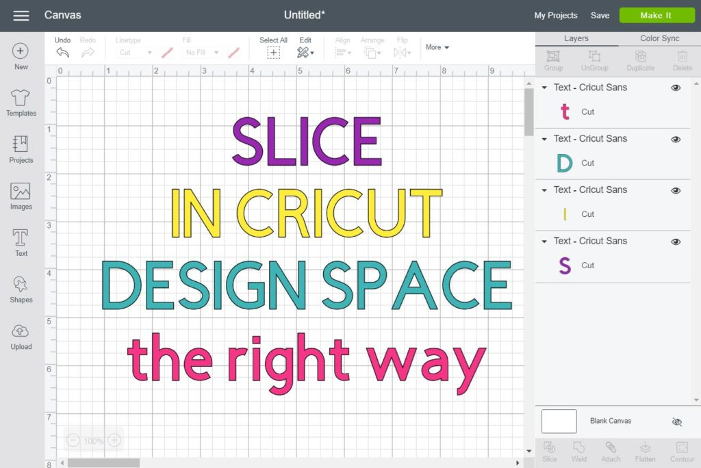 How to Slice & Crop in Cricut Design Space
