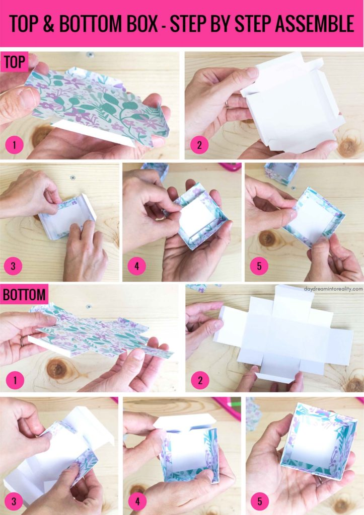 Top and Bottom Box - Step by Step Assemble info-graphic