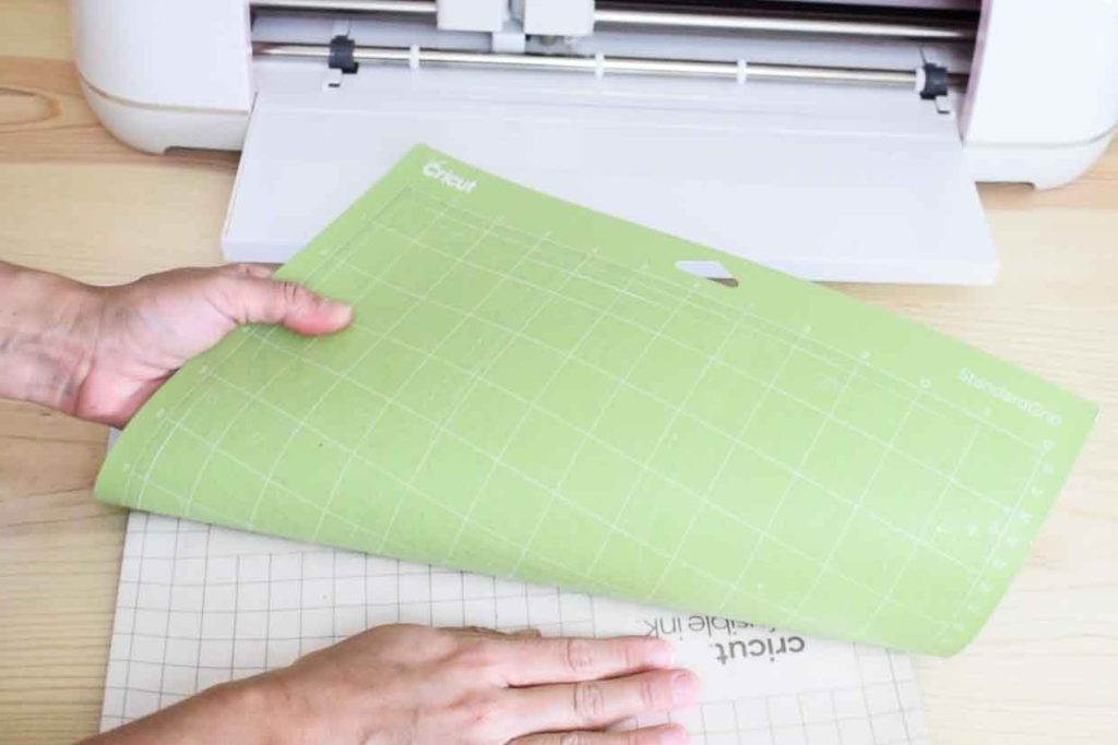 Remove Cricut Infusible Ink Transfer sheet from mat