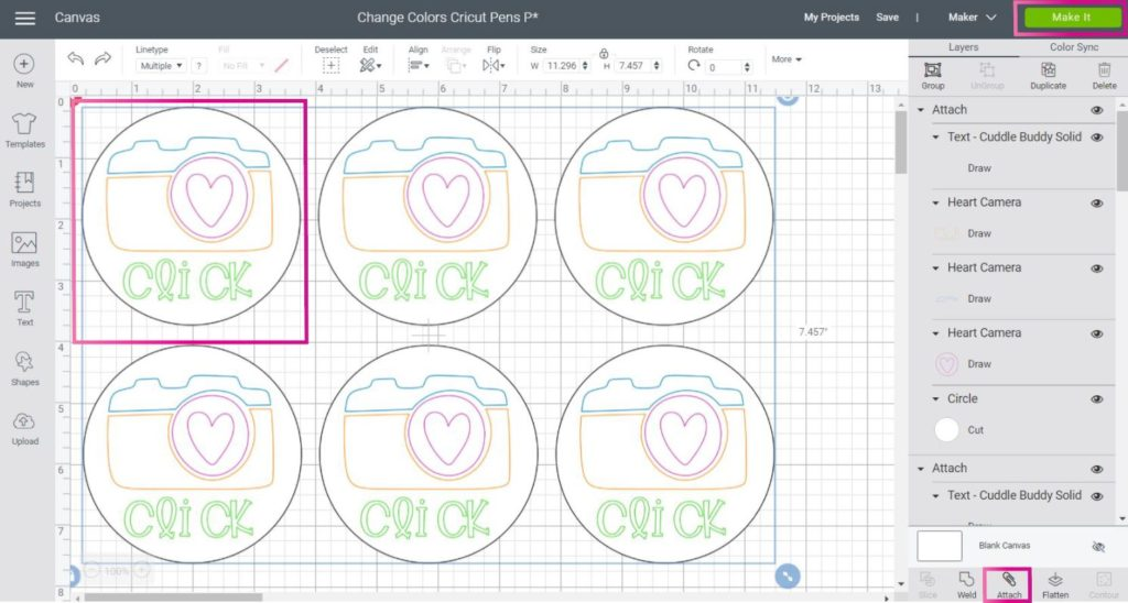 Duplicating a drawing design in Cricut Design Space