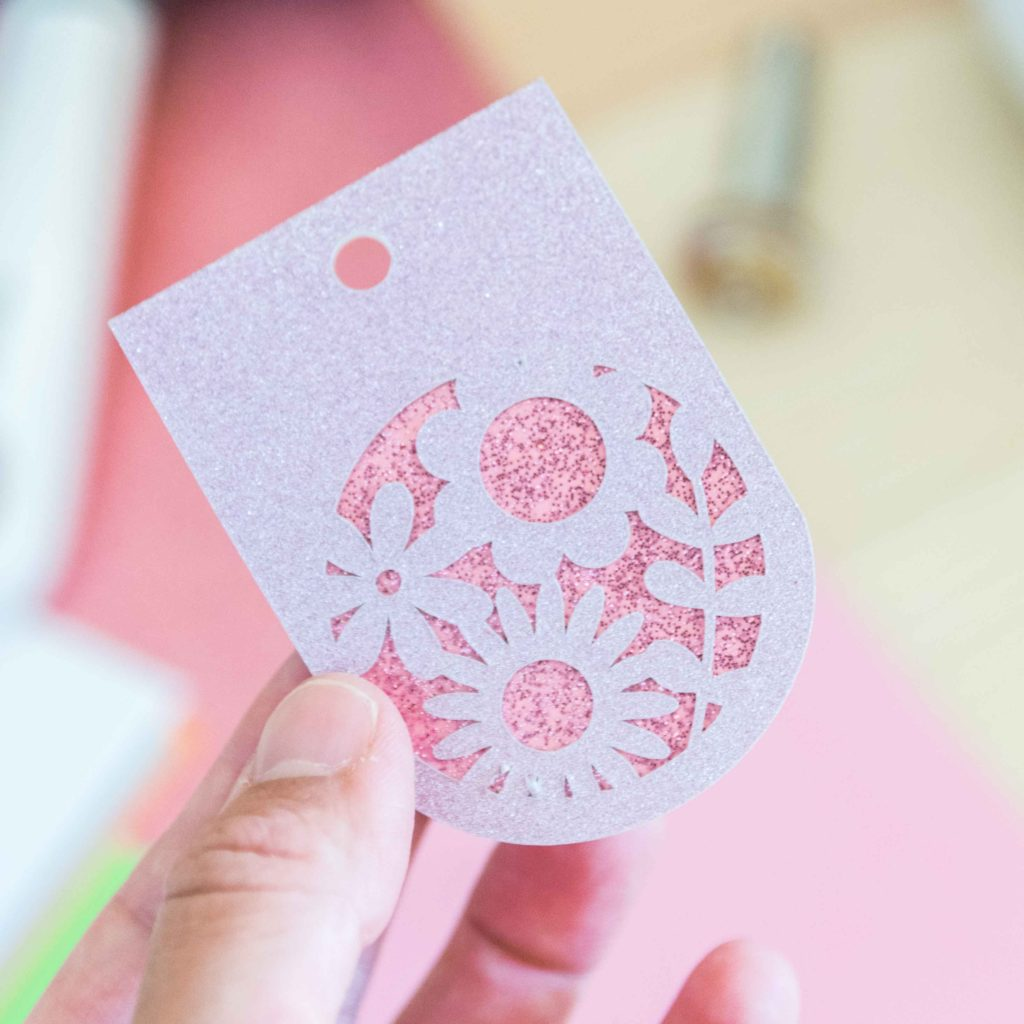 Purple Glitter Cardstock Gift tag