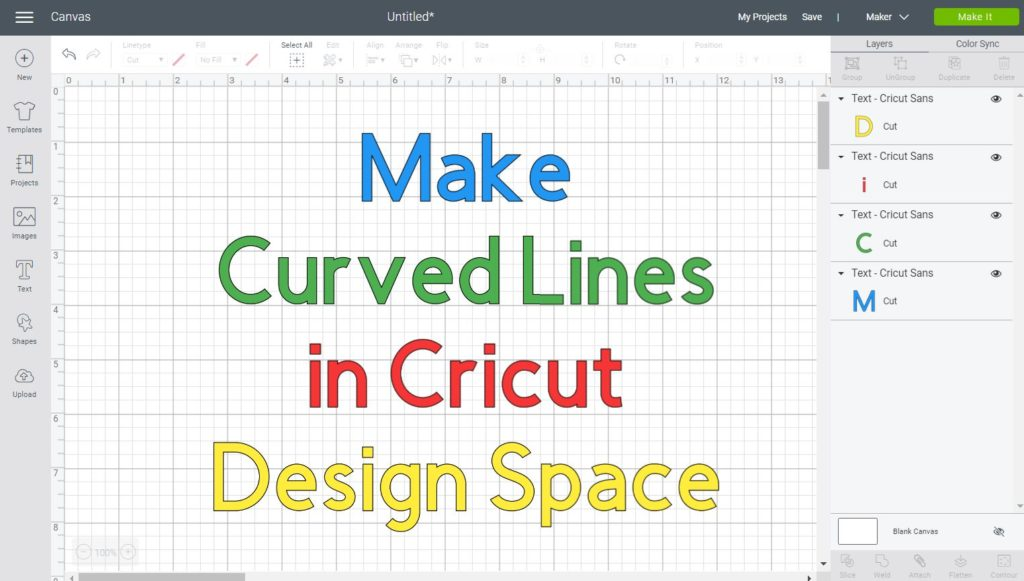 How To Make A Curved Line In Cricut Design Space Free Svg Curvy Lines