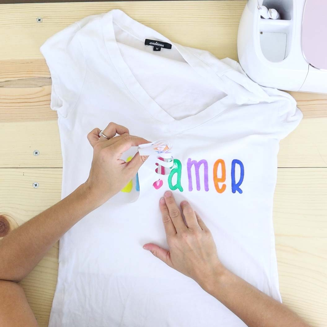 Removing freezer paper after painting a t-shirt