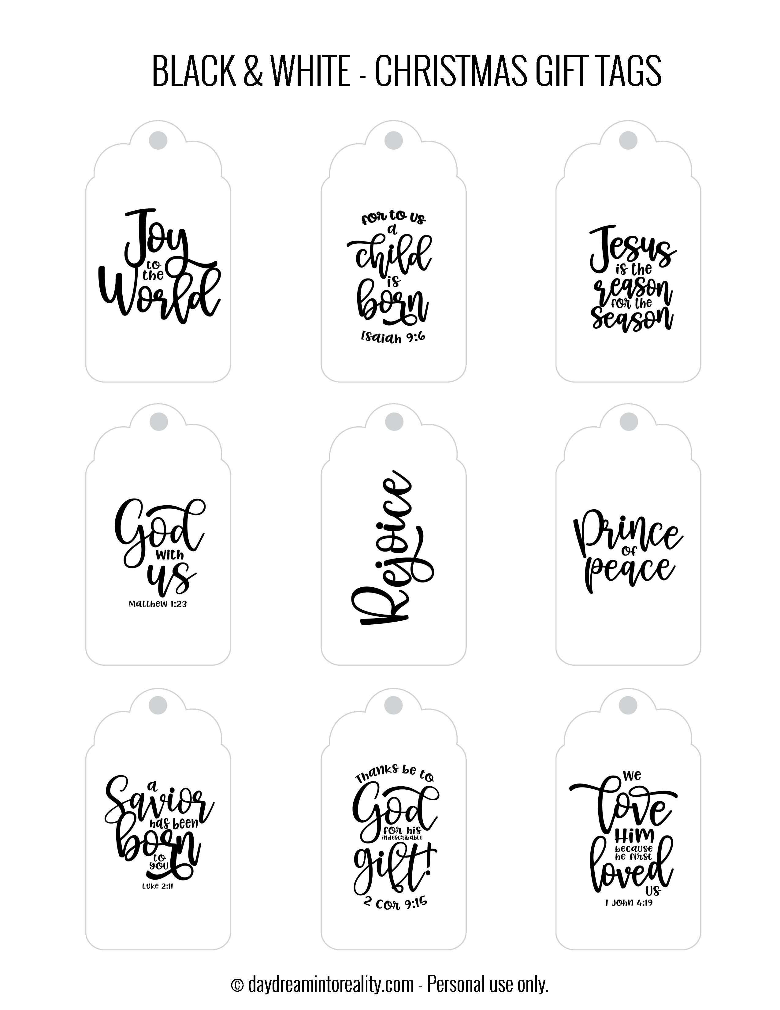 50 Free Printable Christmas Gift Tags Also Blank Templates