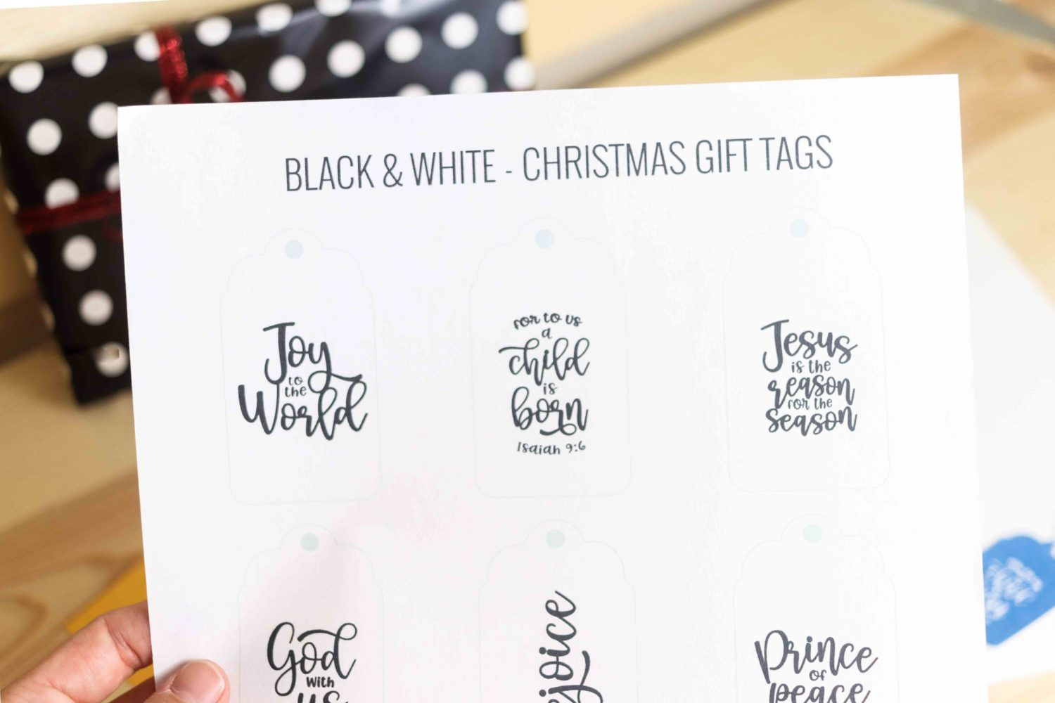 Christ Centered Christmas Gift Tags