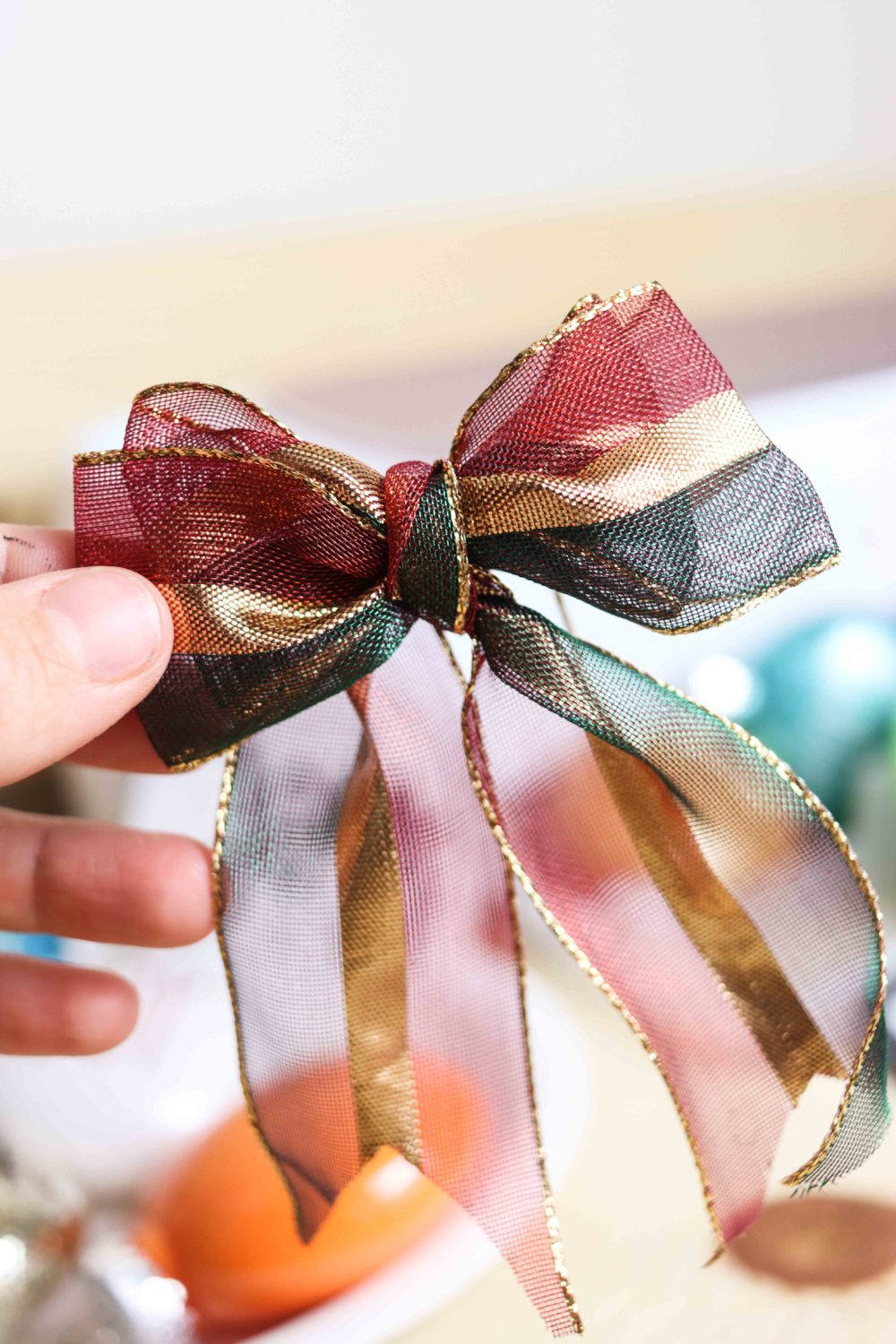 decorative bow for Christmas Ornament