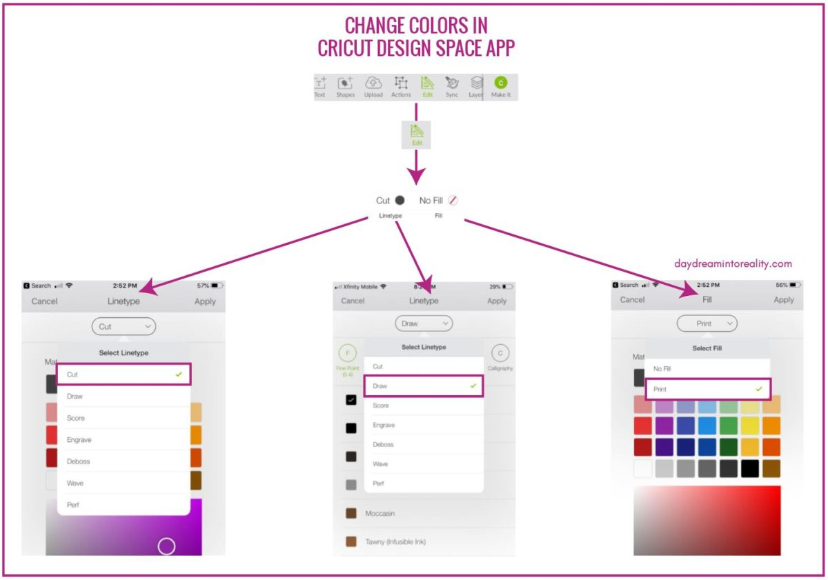 How to Add/Change colors in Cricut Design Space App (phone/ipad)