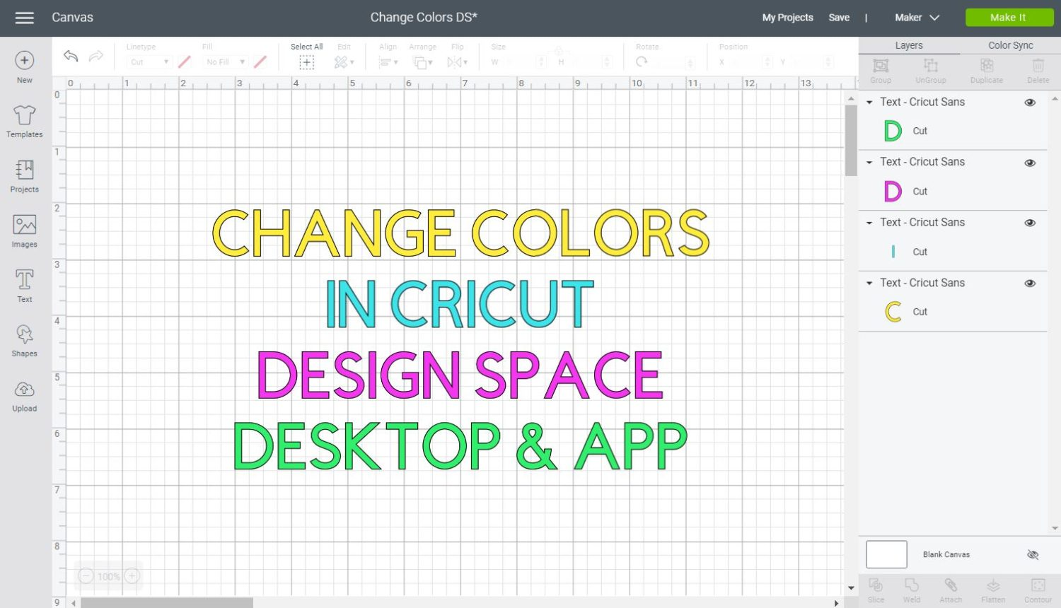 Change Colors in Cricut Design Space Featured Image
