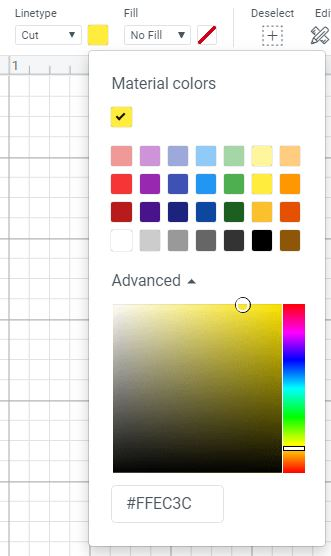 Change Color Materials in Cricut Design Space Desktop