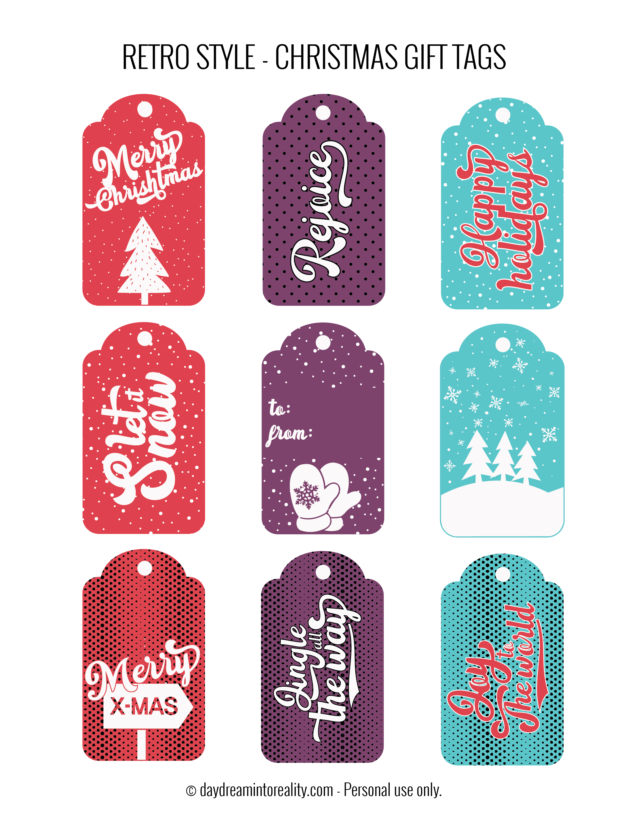 It is a picture of Printable Christmas Gift Labels for pdf