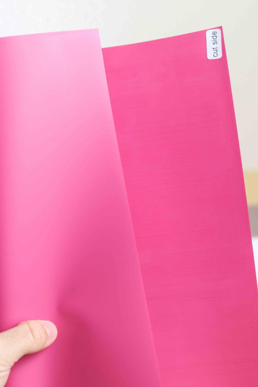 pink iron-on vinyl sheet