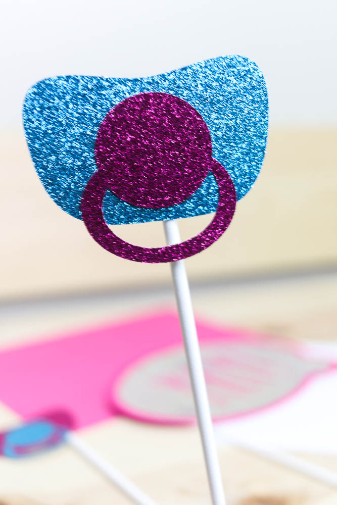 pacifier photo prop stick in the middle