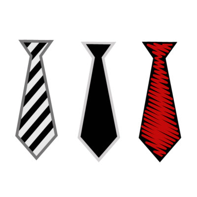 Different ties (black, red, gray) Free SVG Template for photo booth props